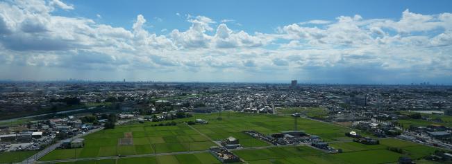 上空からの越谷市